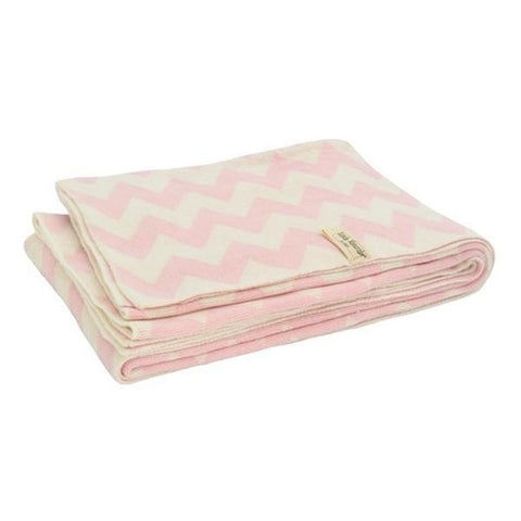 Jollein Blanket Chevron 100x150 Pink Off White