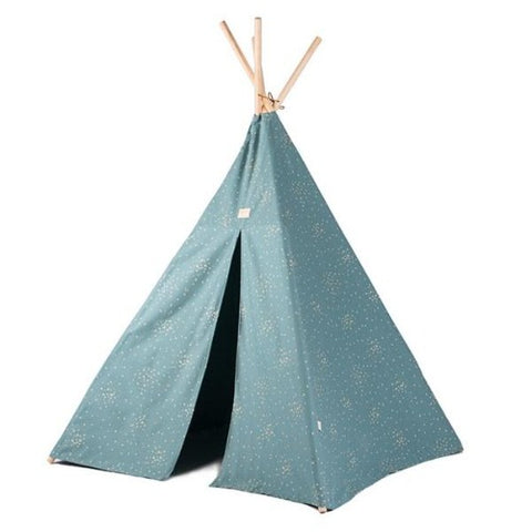 Nobodinoz Tipi Phoenix Gold Confetti/Magic Green