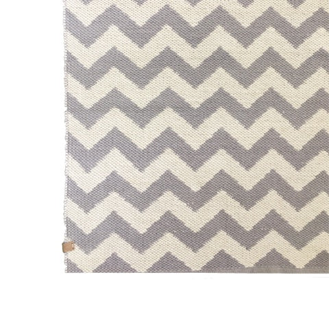Deer Cotton Rug Chevron Misty Lilac