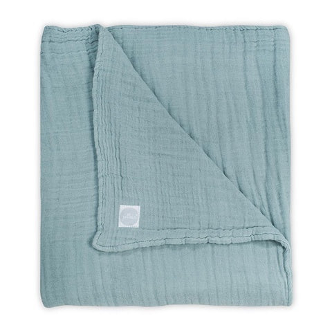 Jollein Hydrophilic Wrinkled Blanket 120x120 Stone Green