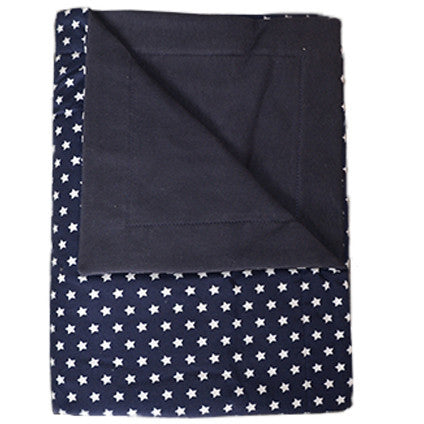 Moepa Cot Blanket 100x150 Blue Star