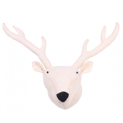 Zoo Felt Wall Hanging Reindeer White