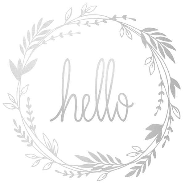 Wall Decal Hello Silver