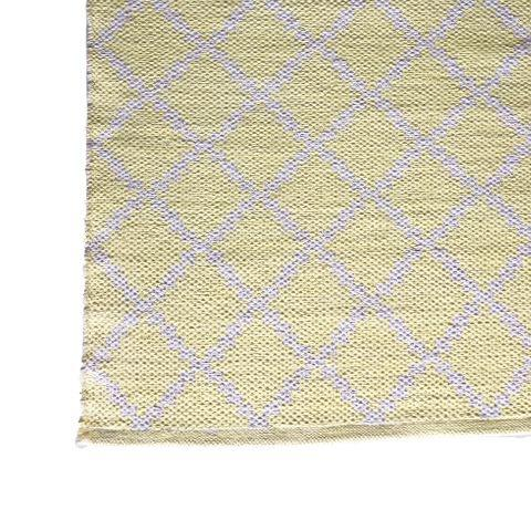 DEER Cotton Rug Geometric Soft Yellow