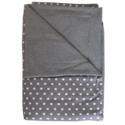 Moepa Cot Blanket 100x150 Grey Star