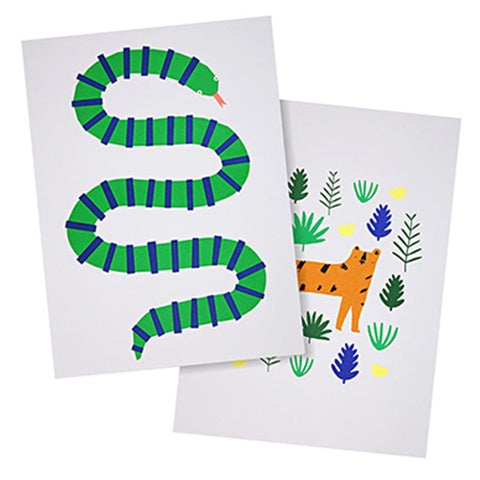 Art Prints Jungle (set of 2)
