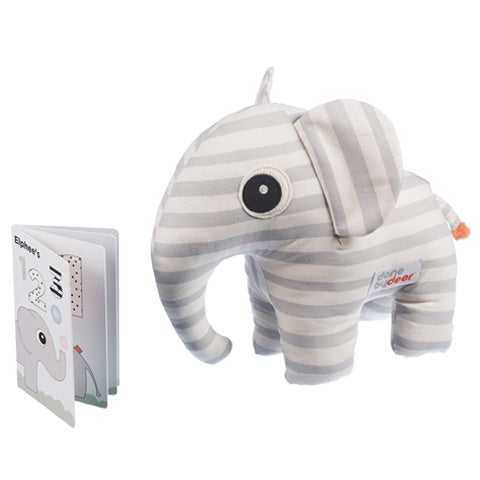 Soft Toy and Booklet Elphee Grey