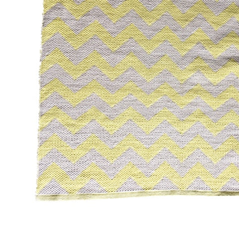 DEER Cotton Rug Chevron Soft Yellow