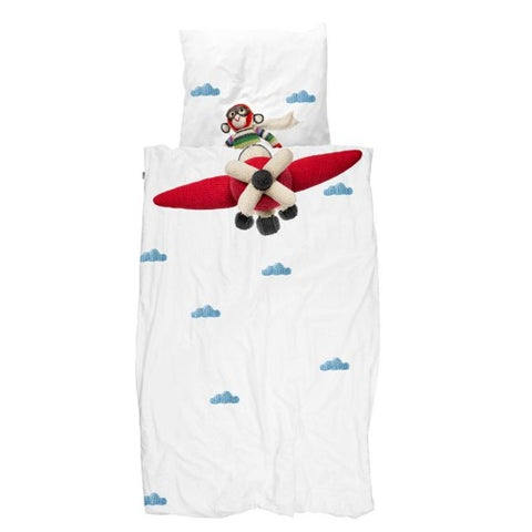 Duvet Cover Airplane Monkey