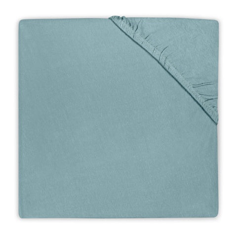 Fitted Sheet Cotton 75x150 cm Stone Green