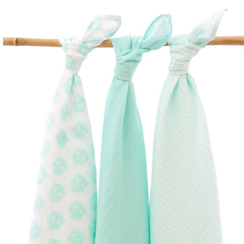 Multi Cloth 3-Pack Owl Mint
