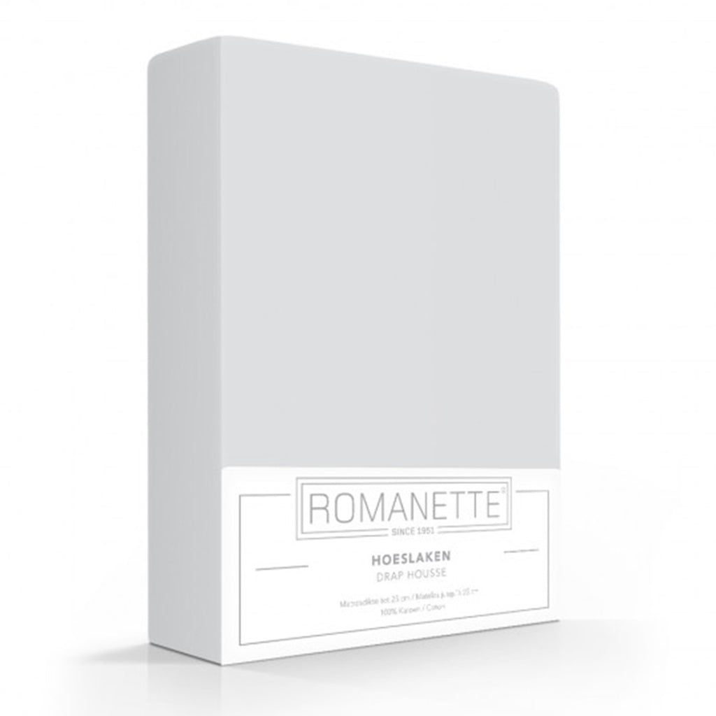 Romanette Fitted Sheet Cotton 90x200 Silver