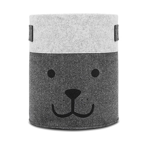 Basket Bear Felt Grey Large