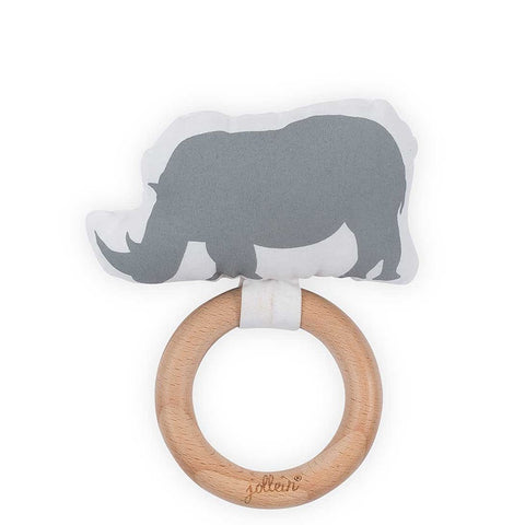 Teething Ring Safari Stone Grey
