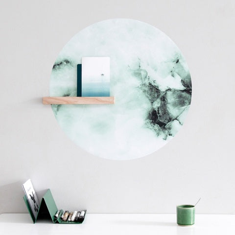 Magnetic Wall Sticker Marble Emerald