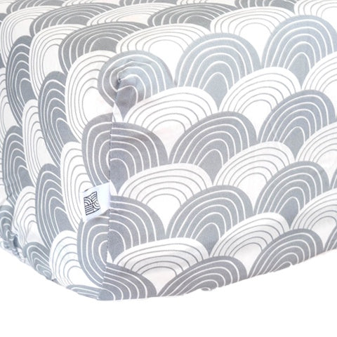 Fitted sheet 90x200 Rainbows Grey