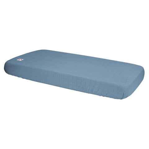 Lodger Fitted Sheet Cot/Cot Bed Solid Ocean Blue