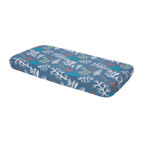 Lodger Fitted Sheet Cot/Cot Bed Botanimal Ocean Blue