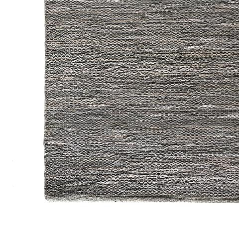 DEER Leather Handloom Rug Dusty Grey