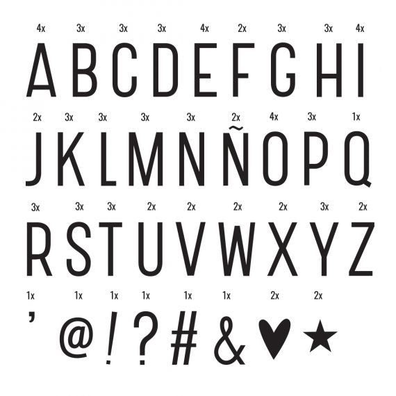 Lightbox Letter Set Black