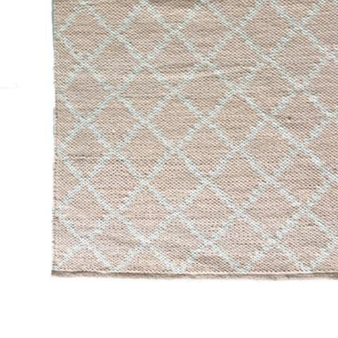 DEER Cotton Rug Geometric Pale Pink