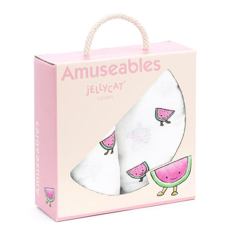 Jellycat Pair of Muslins Amuseable Watermelon
