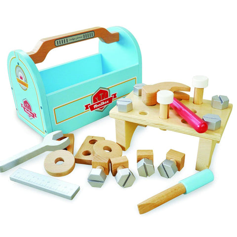 Wooden Toy Little Carpenters Tool Box