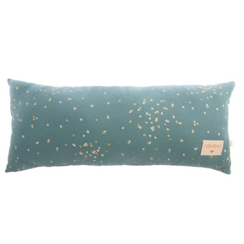 Nobodinoz Cushion Hardy Long Gold Confetti/Magic Green