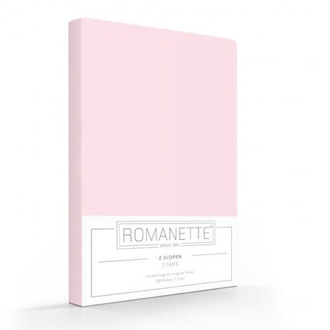 Romanette Pillow Cases 60x70 Pink (set of 2)