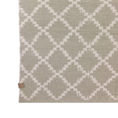 DEER Cotton Rug Geometric Taupe