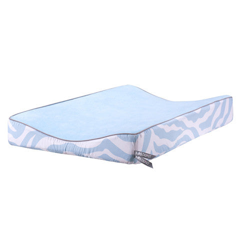 Zebra Changing Pad Cover Blue