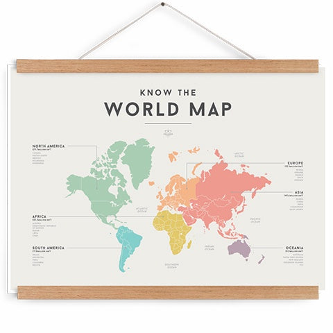 Educational Chart World Map