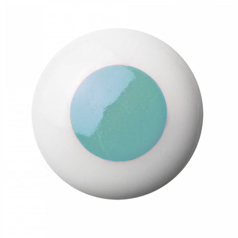 Hook/Knob Porcelain Blue Dot