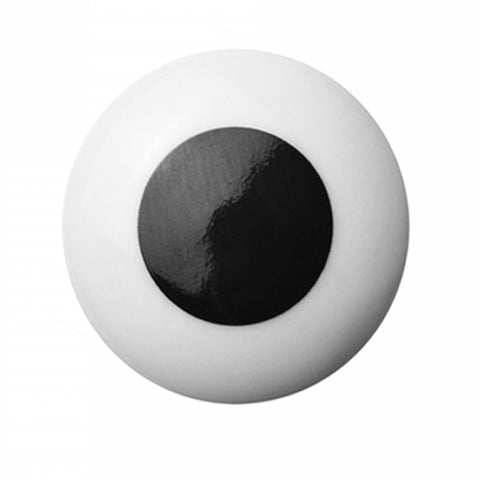 Hook/Knob Porcelain Black Dot