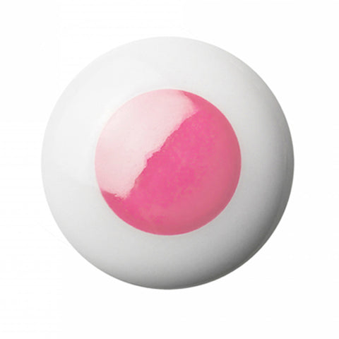 Knob/Hook Porcelain Pink Dot