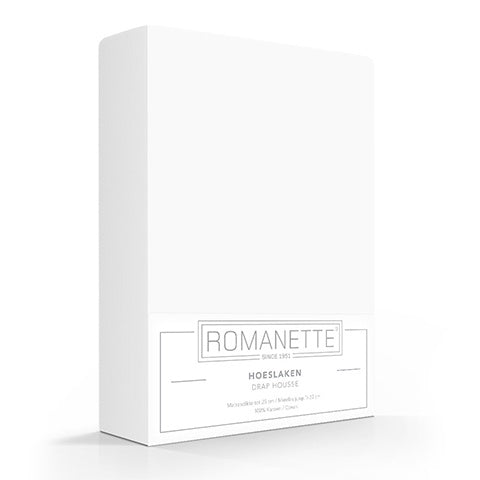 Romanette Fitted Sheet Cotton 90x200 White