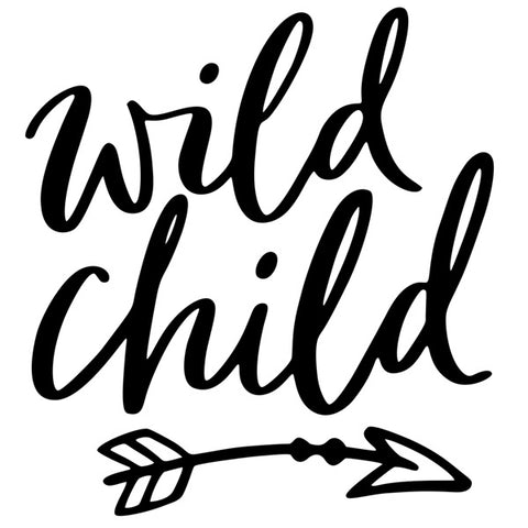Wall Decal Wild Child Black