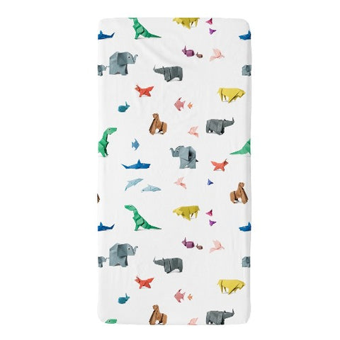 Fitted Sheet Cot Paper Zoo