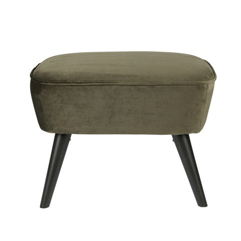 Hocker Velvet Warm Green