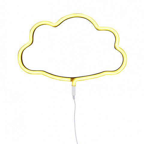 Neon Light Cloud Yellow