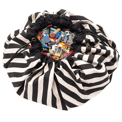 Play & Go Storage Bag Stripes Black
