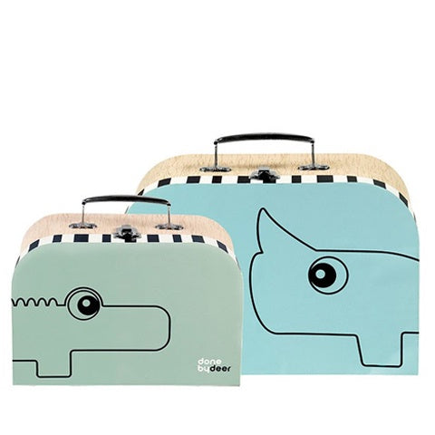 Suitcase Set Blue/Green