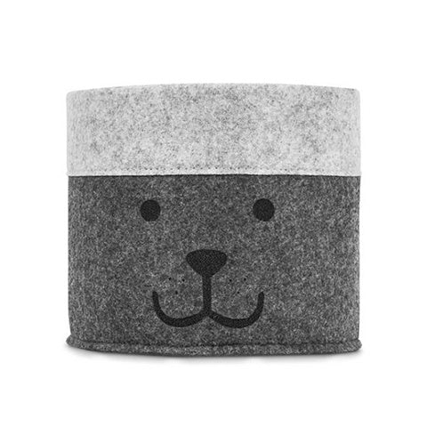 Basket Bear Felt Grey Small