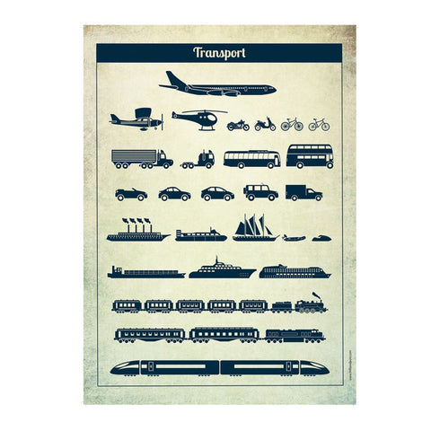 Poster 50 x 70 Vehicles Transport