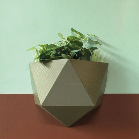 Wall Basket Magnetic Olive Green