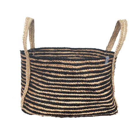 DEER Jute Handmade Basket Natural/Black