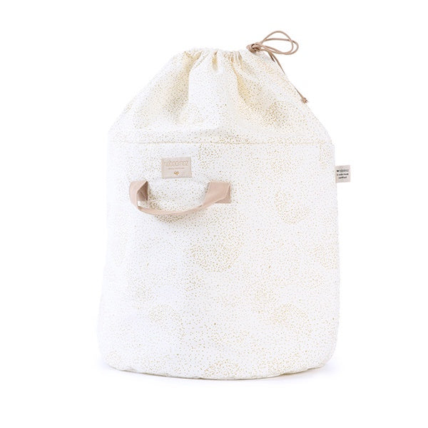 Nobodinoz Toy Bag Gold Bubble/White