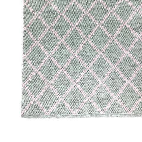 DEER Cotton Rug Geometric Mint Green