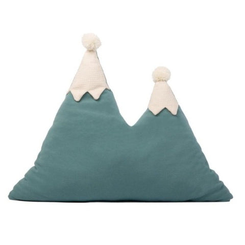 Nobodinoz Cushion Snowy Mountain Magic Green