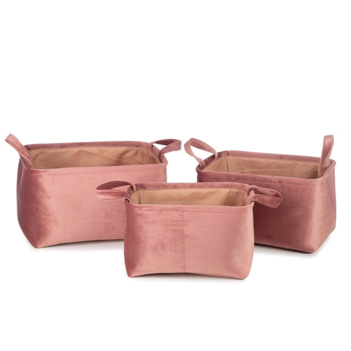 Basket Billie Pink Set of 3